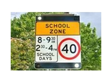 LED school zone smart sign