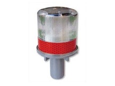 Solar powered LED beacons are available in red, yellow, white, blue, and green