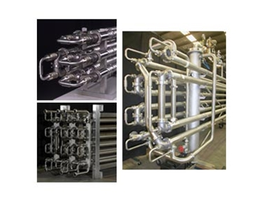 Effective heating and cooling of viscous food and chemical products