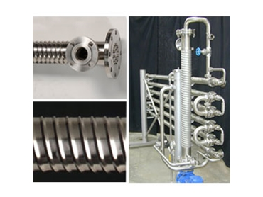 Unique shell corrugation minimises mechanical stresses