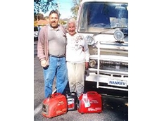 Kevin and Nancy Davis made a big round Australia trip five times with Honda generator