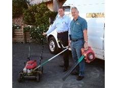 Glen Laws (left) with Honda dealer representative Russ Wakefield.