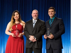Andrew D'Amelio, Vice President Sales – Americas is pictured with the winners