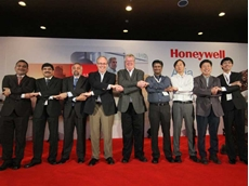 Honeywell leadership team with senior Asia-Pacific Channel Partners