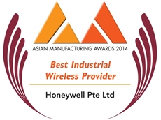 Honeywell Process Solutions was named the Best Industrial Wireless Provider at the 2014 AMA for its OneWireless Network