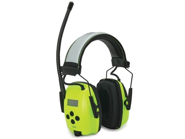 The Sync Radio Hi-Visibility earmuff provides workers with a total solution for hearing protection, worker motivation and visibility