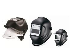 Optrel Galaxy welding helmets with hard hat adaptor