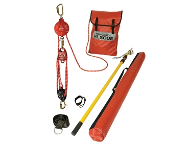 All rescue components are contained in an easy-to-store kit