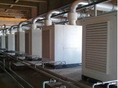 Turbo blowers at a wastewater treatment plant