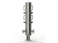 The process inline filter PLF1 has high flow rates combined with a high contamination retention capacity