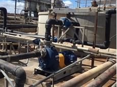 Gorman-Rupp supplied a wastewater pump that could be mounted at ground level