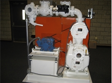 Self-priming pump solves sewage problem