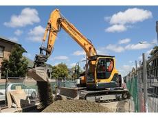 A Hyundai excavator