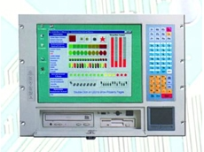 10-slot industrial computer with touch pad