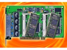 Flexible four LAN port carry board