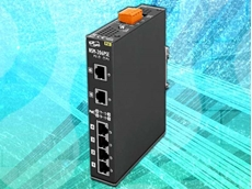 The NSM-206PSE is a 6-port unmanaged Ethernet switch supporting Power-over-Ethernet on ports 1 to 4.
