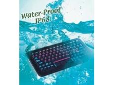 Waterproof keyboard rated IP68