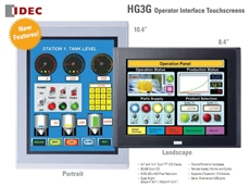 HG3G Operator Interface Touchscreens with amazing expandability and powerful connectivity