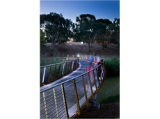 The Torrens Pedestrian and Bicycle Bridge was designed and built with the help of IMAGINiT AutoCAD technology