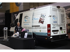 One of IVECO Daily vans used by the Trans-Help Foundation as a Mobile Health and Support Unit at the 2013 Brisbane Truck Show