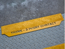TigerTRED stair nosings incorporate a customised safety message to encourage people to think as they walk