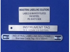 laser etching range of tags and labels