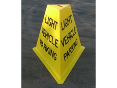Safety message tri - cones