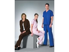 Dickies Medical Scrubs in pink, blue and brown