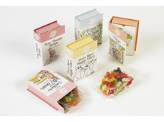 Compostable and transparent NatureFlex NE is used to wrap the premium confectionery for Miss Muffet & Co