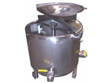Inox Fabrications Australia's open top bottom drive mixers