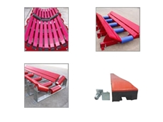 Transfer Supports reduce belt damage and increase service life of machinery