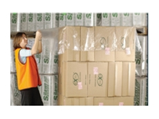 Pallet top covers from Integrated Packaging are available in clear or black plastic