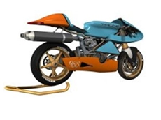 The 988 Patriot, an American race bike designed on SolidWorks CAD software