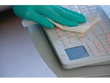 Cleaning a Medical Keyboard