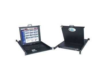 1RU Keyboard Monitor Drawer with DVI KVM Switch
