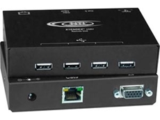 The ST-C5USBVT Series USB and VGA video extender from Interworld Electronics