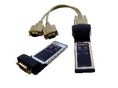 Four port RS-232 and RS-422/485 ExpressCards
