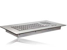 New panel mount stainless steel keyboard with touchpad
