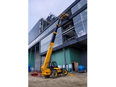 JCB's newest Loadall has a lift load capacity of four tonnes and lift height of up to 20 metres