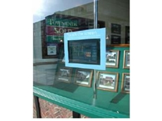 The user can interface with the system through the shop window.