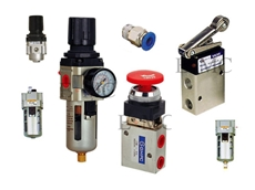 Industrial pneumatic solutions including filters, filter regulators, regulators and lubricators