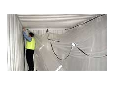 Container Liners are suspended inside the container and can be air or inert gas inflated if required.