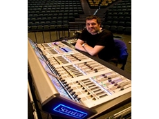 Gary Stokes with the Soundcraft Vi6 Digital Mixing Console from Jands