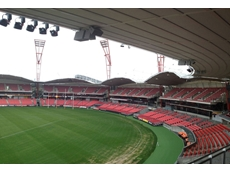 JBL, Crown and Shure systems were installed as part of the PA systems at Skoda Stadium