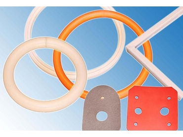 Gaskets punched from Silicone Sheeting or Strips