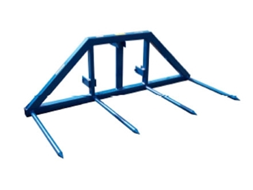 Twin Round Bale Handling Forks evenly distribute a maximum lifting weight of 1500kg for safer transporting