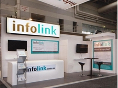 Infolink's exhibition display panels recently designed and built by John Gibson Displays