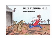 'Bale Number 2010', shearing cartoon calendar available from Just Shearing
