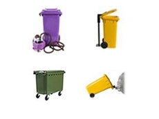 Large to Small Wheelie Bins for Assembly and Distribution