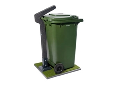 PlastiPole bin retention systems are manufactured from 100% recycled material